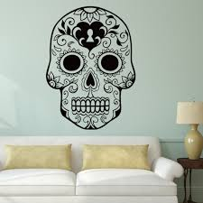 100 Decorated Wall Halloween Skeleton Background Stickers Lack Painted