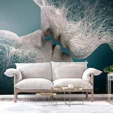 details zu abstrakt kuss vlies fototapete tapete wandbilder wohnzimmer blau grau stahl