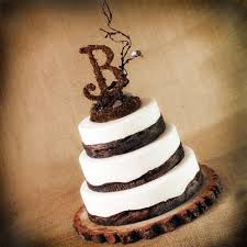Woodland Nature Rustic Wedding Cake Topper