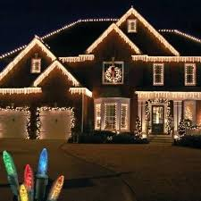 Hanging Christmas Lights Outside Stupefy On House Ideas Ranch Style Home Decorated With Interior Design 2
