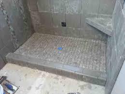 glass block on tiled shower curb ceramic tile advice forums