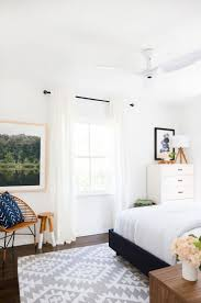 Crisp And Clean Bedroom With Midcentury Inspired Accents Bold Photography