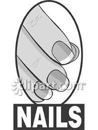 finger nail clip art black and white