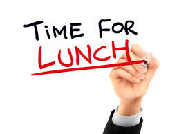 Time For Lunch Words Written By Hand On A Transparent Board Illustration
