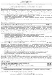 Director Of Facilities Resume Example Management Facility Supervisor Samples