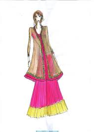 Fashion Designers Drawings Of Indian Dresses Dress Design Sketches Google Search