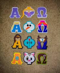 Disney Princess Alpha Phi Omega Letter Stencils Alpha Phi Omega