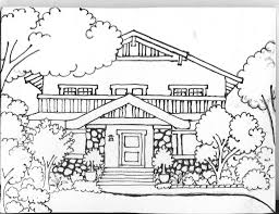 Impressive Coloring Pages Houses 98