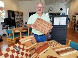 retired vilonia coach shows woodwork at el paso library