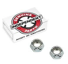 100 Parts Of A Skateboard Truck Independent Xle Nuts Silver For Longboard 4 Pc