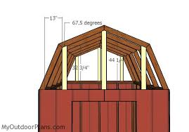 8 X 10 Gambrel Shed Plans by 8x10 Gambrel Shed Roof Plans Myoutdoorplans Free Woodworking