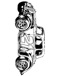 Classic Racing Car Number 21 Coloring Page
