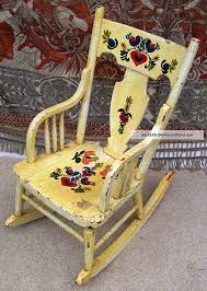 Vintage Childrens Rocking Chair - Flowers Hand Painted Post-1950 ... Sale Vintage Folk Art Rocking Chair Pa Dutch Handpainted Black Dollhouse Doll Fniture Painted Blue White Chalk Paint Decor Ideas Design Newest Hand Painted Peacock Rocking Chair Nursery Fniture Queen B Studios Wikipedia Danish Mid Century Solid Wood Vintage Rocking Chair Secohand Pursuit Antique Rocker As Seasonal Quilt From Whimsikatz Upcycled Hand Cacti Motif Retro School Herconsa Childrens Hand Painted Shrek