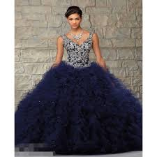 popular dark blue ball gown crystal prom buy cheap dark blue ball