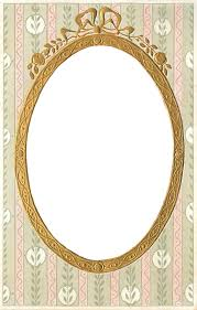 Wings Of Whimsy Vintage Gilt Oval Frame