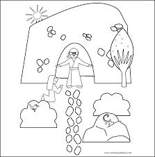 Easter Resurrection Bible Coloring Sheet