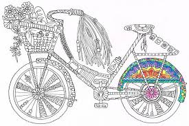 Coloring Page Bicycle Printable For Kids And