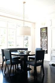 Fancy Dining Room Drum Light Fixtures Transitional With Artwork Beige Wall Black Image By Design Inc Chandelier