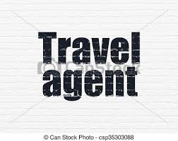 Travel Concept Agent On Wall Background Stock Illustration