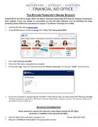 IRS Tax Return Transcript Request Process