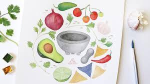 How to Watercolor x Guacamole