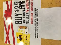 BWW Buffalo Wild Wings 2017 Holiday Gift Card Buy $25 Get $5 ... Buffalo Wild Wings Survey Recieve Code For Free Stuff Coupon Code Sweatblock Is Buffalo Wild Wings Open On Can You Use Lowes Coupons At Home Depot Gnc Discount How Much Are The Bath And Body Tuesday Specials New Deals Best Healthpicks Coupon Silvertip Tree Farm Coupons 1 Promo Codes Updates Prices September 2018 Sale Over Promo Motel 6 Colorado Springs National Chicken Wing Day 2019 Get Free Lasagna Freebies Discounts Game Food Find 12 Cafe Zupas Codes October