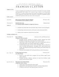 Child Care Resume Samples Director Examples Sample Children For Of Resumes Childcare 1