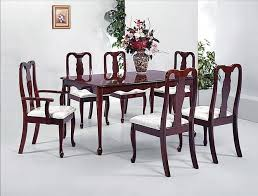 Queen Anne 7 Piece Dining Set In Cherry Finish By Crown Mark