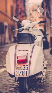HD Background Piaggio Vespa Scooter Road Italy Rome Rear View