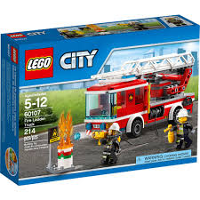 100 Lego City Tanker Truck LEGO Fire Ladder 60107 BIG W