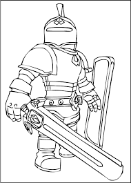 Roblox Knight Coloring Pages