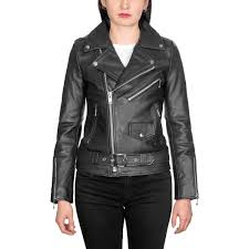 commando leather jacket black with nickel hardware straight to
