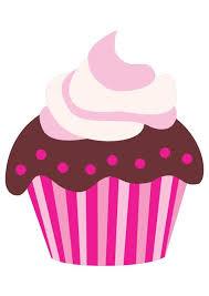 Cute Pink Cartoon Chocolate Cupcake