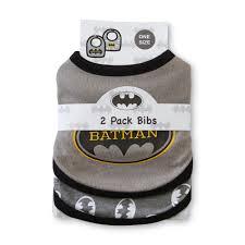dc comics batman infant boy s 2 pack bibs