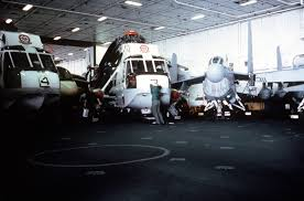 100 Aircraft Carrier Interior An Interior View Of The Hangar Deck Aboard The Nuclear