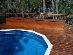 Patio And Deck Combo Ideas by Building Above Ground Pool Deck Timber Decking Perth Composite