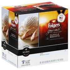 Folgers Gourmet Selections Vanilla Biscotti Flavored Medium Roast