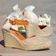 cream suede wedge espadrilles low or high heel by espadrille