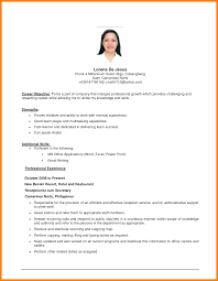 Examples Of Resumes First Job Resume Objective