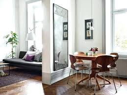 Living Room Bedroom Divider Small Apartment With Concrete Wall Separating