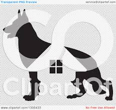 German Shepherd Pumpkin Stencils Free by Clipart Of A Black Silhouetted German Shepherd Dog And House