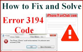 What is Best Way To Fix iTunes Error 3194 During iPhone Restore