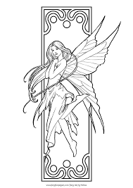 This Fairy Colouring Site Is Updated Often With New Pictures To Color So Make Sure You Bookmark It And Check Back Love These Art Deco Style Coloring