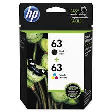 HP 63 L0R46AN 2 Pack Black Tri Color Original Ink
