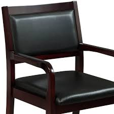 100 Reception Room Chairs Brown Caspian By GoSIT New Executive Wood Guest Chair Mahogany National