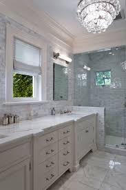 carrara marble subway tile bathroom contemporary with bathroom