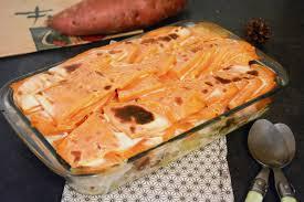 cuisiner morue gratin de pommes de terre patate douce et morue au fil du thym
