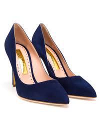 rupert sanderson malory high heel pumps in blue lyst