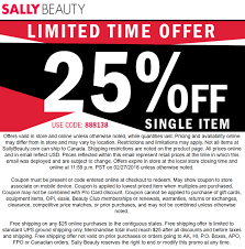 Sally Beauty Coupons - 25% Off A Single Item At Sally Beauty ... Sally Beauty Supply Hot 5 Off A 25 Instore Purchase 80 Promo Coupon Codes Discount January 2019 Coupons Shopping Deals Code All Beauty Bass Outlets Shoes Free Eyeshadow From With Any 10 Inc Best Buy Pre Paid Phones When It Comes To Roots Know Your Options Deal Alert Freebie Contea Amazon Advent Calendar Day 9 Hansen Gel Rehab Online Stacking For 20 App