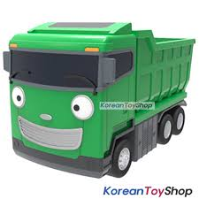 98 Garbage Truck Party Supplies The Little Bus TAYO Diecast Plastic Car Max Model Dump Pull